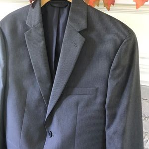 Joseph Feiss Boys Jacket Blazer Dark Gray Stripe
